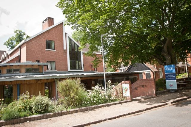 Street view of Lucy Cavendish college, where Sir Laurence residential English summer camp is based