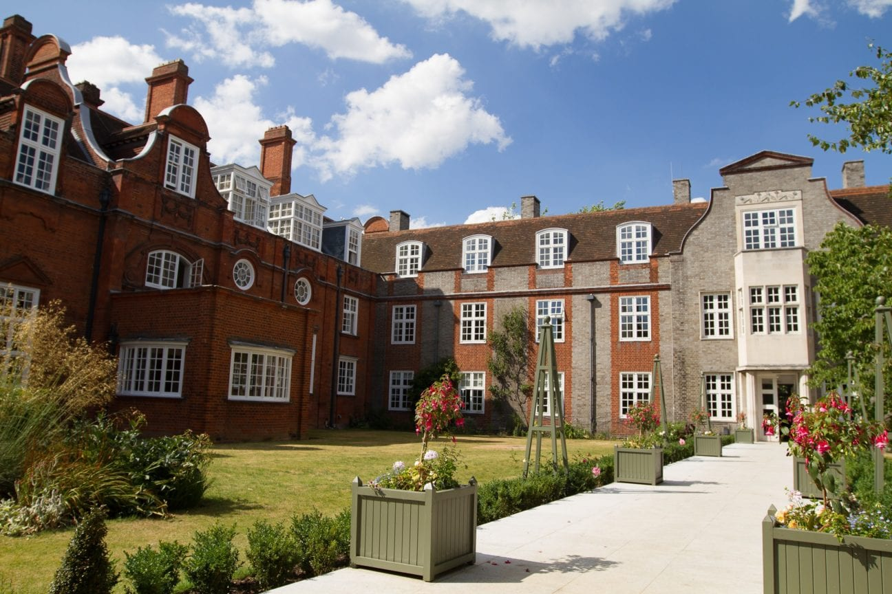 Newnham College is at our Sir Christopher camp. Beautiful old Cambrigde college with gardens