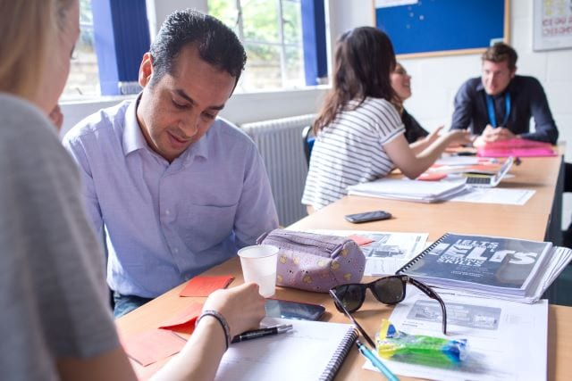 International students in English language lessons at Studio Cambridge