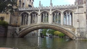 St John's Bridge of Sighs, viewed from River Cam.