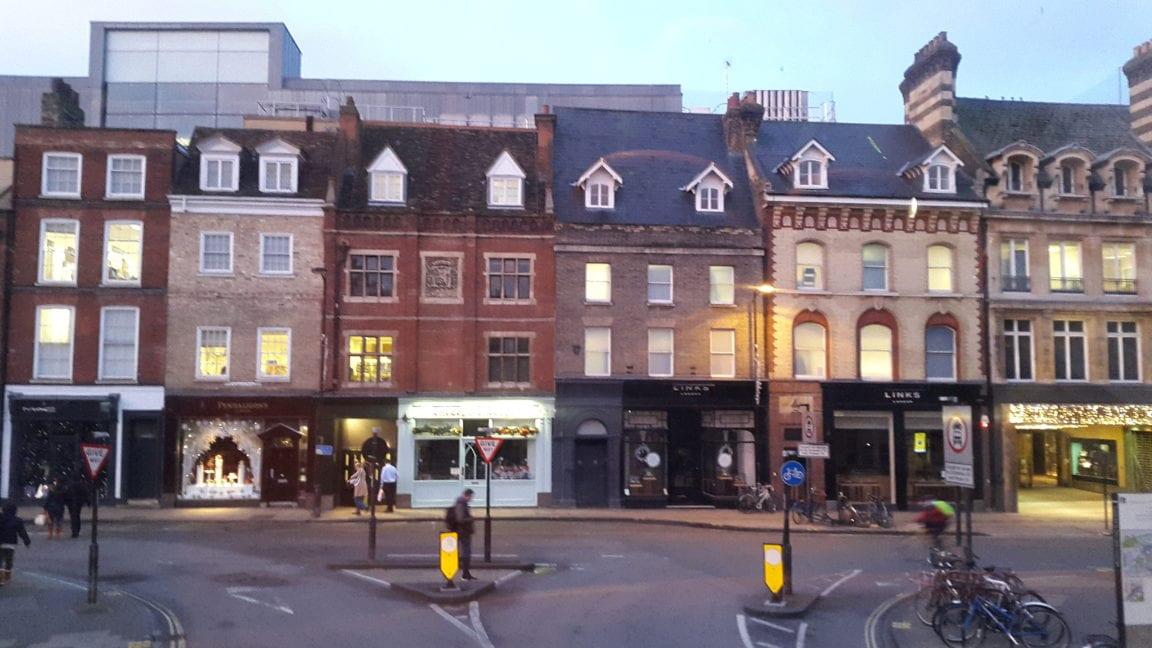 Shops on Regent Street, Cambridge, UK