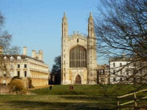 King's Chapel from the Backs, Cambridge, UK
